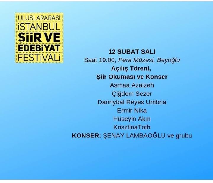 Uluslararası İstanbul Şiir Ve Edebiyat Festivali