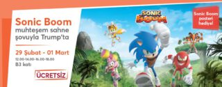 Sonic Boom Trump AVM'de! afiş