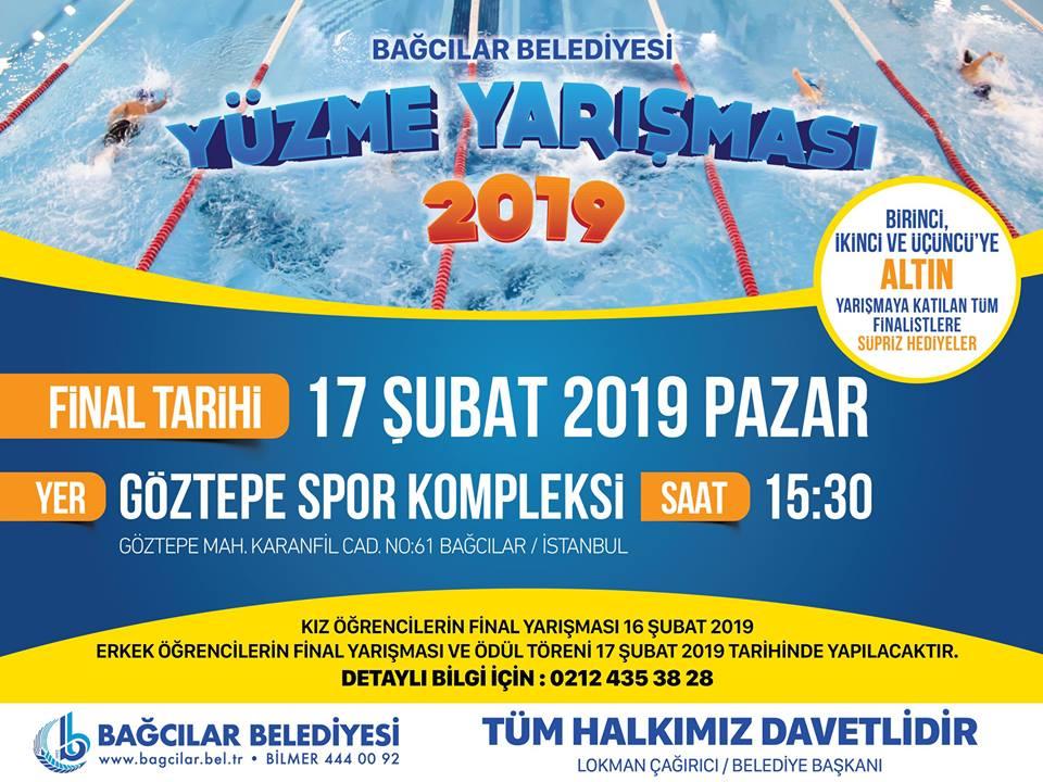 Bağcılar Belediyesi Yüzme Yarışması