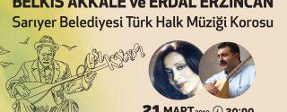 Aşık Veysel Ve Bahar Türküleri afiş