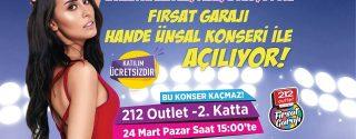 Fırsat Garajı Hande Ünsal Konseri İle Açılıyor! afiş