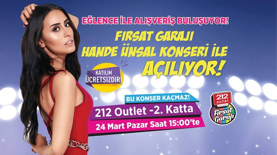 Fırsat Garajı Hande Ünsal Konseri İle Açılıyor!