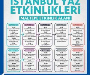 İstanbul Yaz Coşkusu Maltepe Etkinlik Alanı'nda!