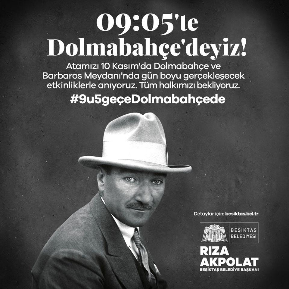 10 Kasım Beşiktaş Atamızı Anıyoruz!