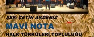 Mavi Nota Halk Türküleri Topluluğu Konseri afiş