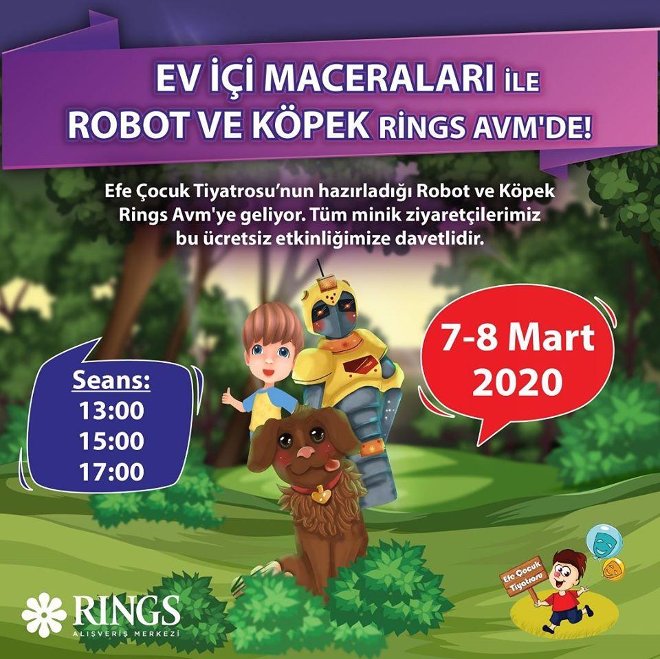 Ev İçi Maceraları İle Robot ve Köpek Rings AVM'de!