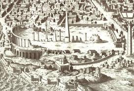 Bizans'ın Sultanahmet'deki  Açıkhava Stadyumu afiş