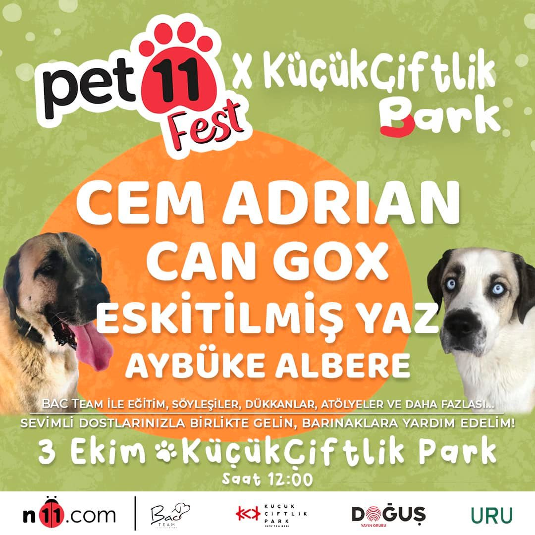 Pet11 Fest KüçükÇiftlik Park'ta!