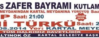 30 Ağustos Zafer Bayramı Kutlamaları – Yeni Türkü Konseri afiş