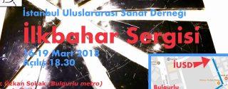 İstanbul Uluslararası Sanat Derneği 2018 İlkbahar Sergisi afiş