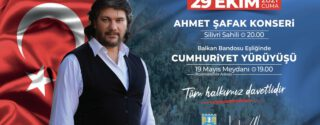 Silivri 29 Ekim Cumhuriyet Bayramı – Ahmet Şafak Konseri afiş