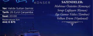 Valide Sultan Gemisi İle Boğaziçi Mehtapları Konser afiş