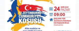 12.Uluslararası Zeytinburnu Cumhuriyet Koşusu afiş