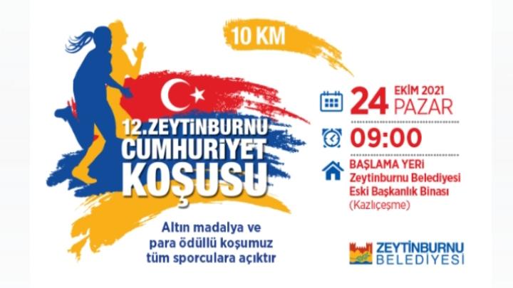 12.Uluslararası Zeytinburnu Cumhuriyet Koşusu