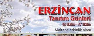Erzincan Tanıtım Günleri Maltepe'de afiş