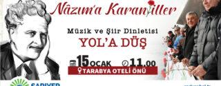 NAZIM HİKMET'İ ANIYORUZ afiş