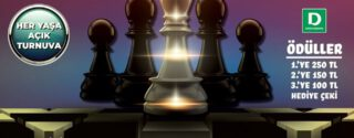 Plato AVM Satranç Turnuvası afiş