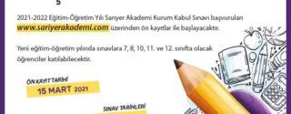 SINAVLARA ÜCRETSİZ HAZIRLIK SARIYER AKADEMİ'DE afiş