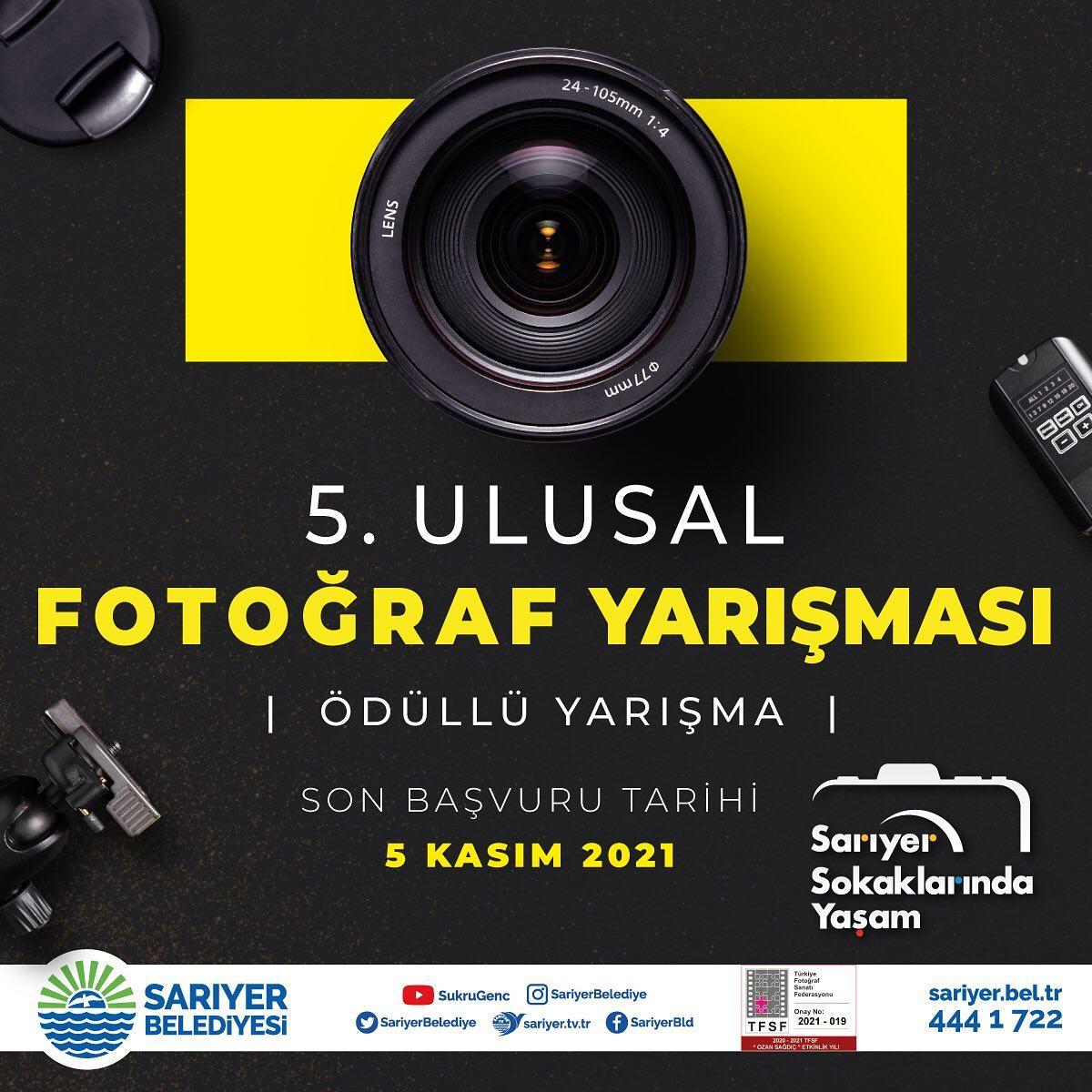 Sarıyer Belediyesi 5. Ulusal Ödüllü Fotoğraf Yarışması