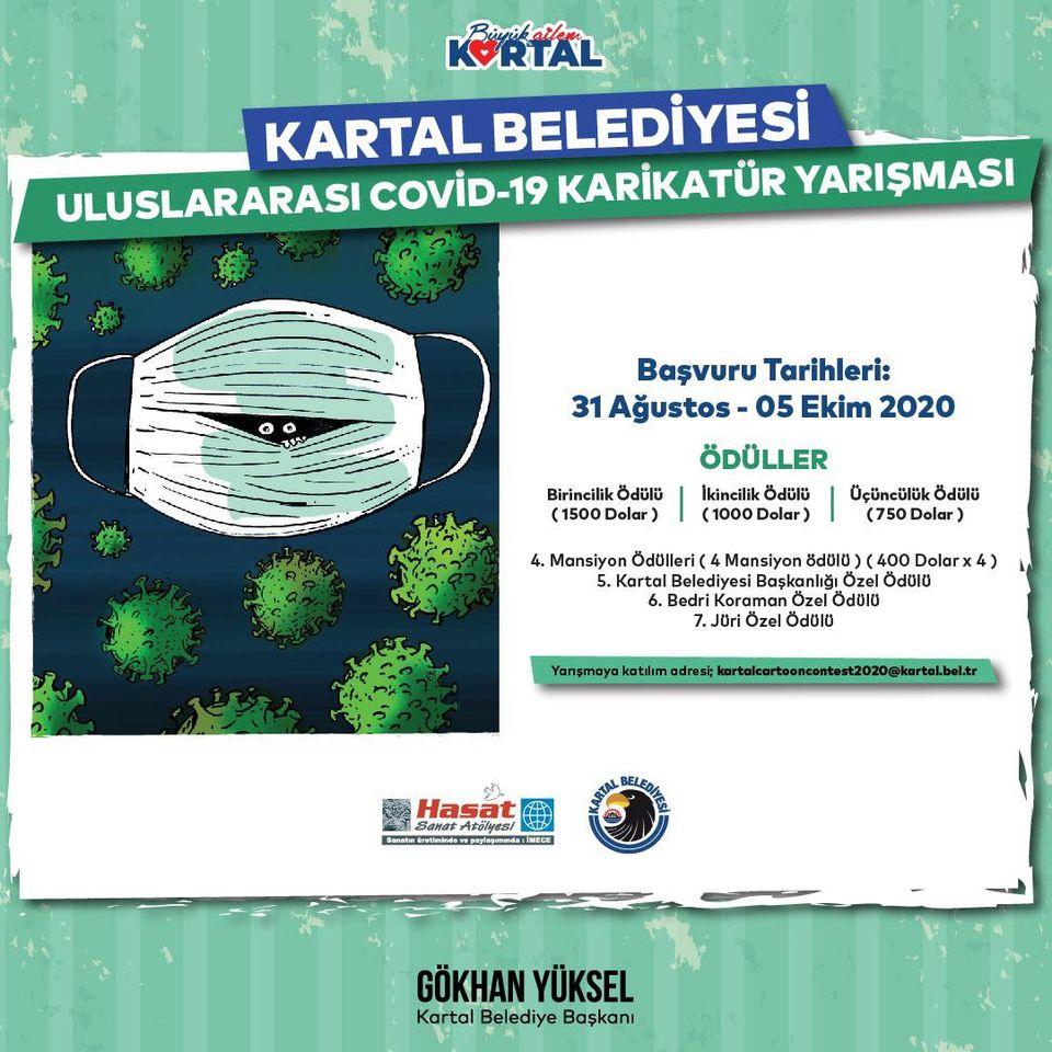 Kartal Belediyesi Uluslararası Covid-19 Karikatür Yarışması