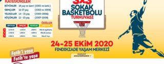 Fatih Belediyesi 3×3 Sokak Basketbolu Turnuvası afiş