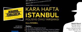 Kara Hafta İstanbul Polisiye Öykü Yarışması afiş