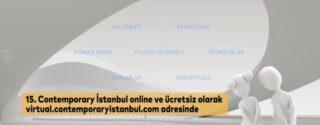 15.Contemporary  İstanbul Online Fuarı afiş