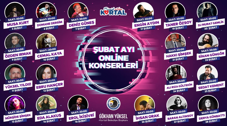 Kartal Belediyesi Şubat Ayı Online Konserleri