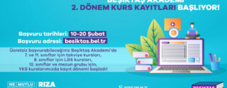 Beşiktaş Akademi 2. Dönem Kurs Kayıtları Başlıyor! afiş