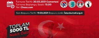 Çanakkale Zaferi Şehitleri Anma Online Satranç Turnuvası afiş