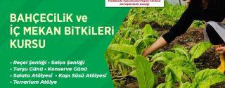 Bahçecilik ve İç Mekan Bitkileri Kursu afiş
