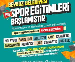 Beykoz Belediyesi Spor Eğitimleri Başlıyor