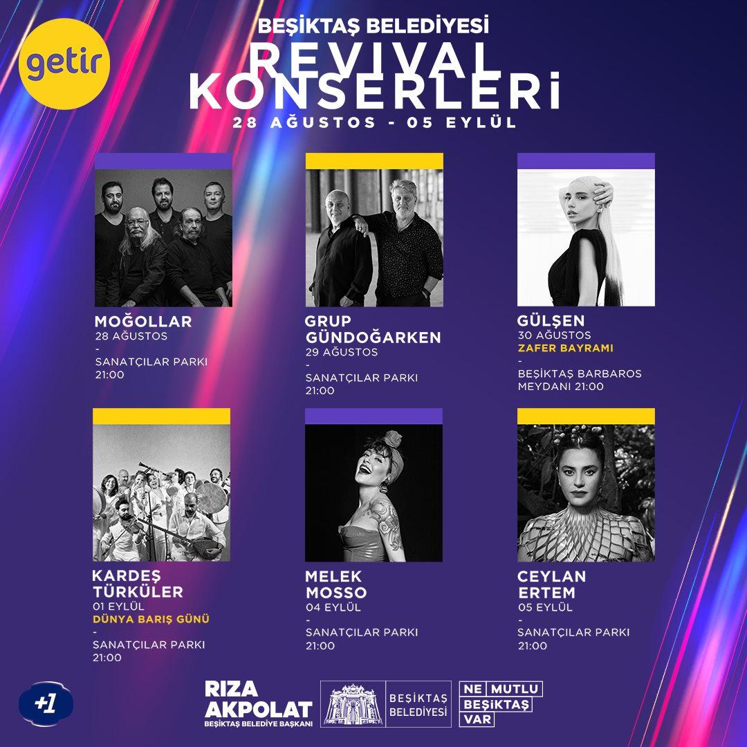 Beşiktaş Belediyesi Revival Konserleri Başlıyor!