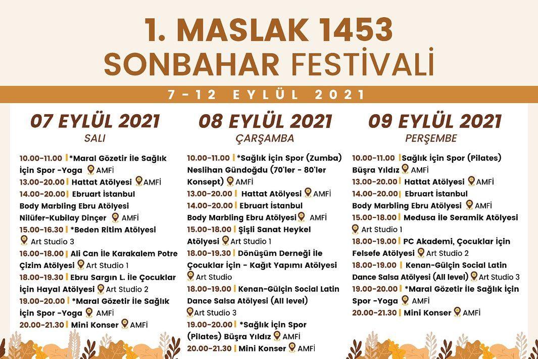 1. Maslak 1453 Sonbahar Festivali
