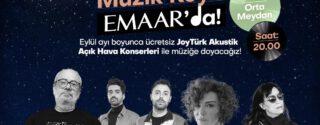 Emaar JoyTürk Akustik Konserleri afiş