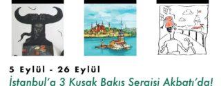 İstanbul'a 3 Kuşak Bakış Sergisi afiş