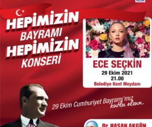 Büyükçekmece 29 Ekim Cumhuriyet Bayramı Ece Seçkin Konseri